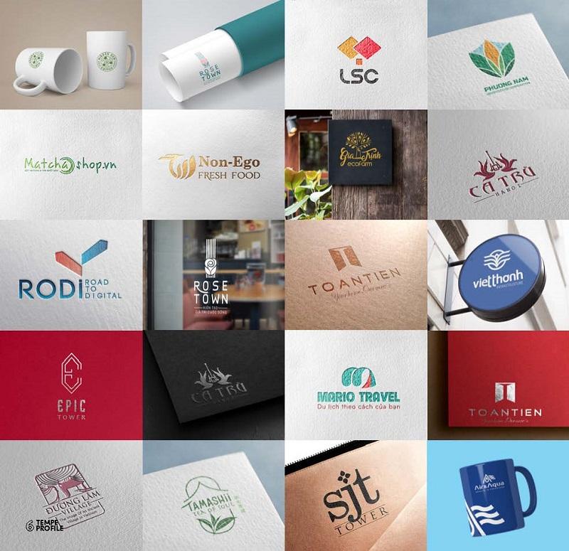 Một số thiết kế logo chuyên nghiệp của TEMPE cho khách hàng