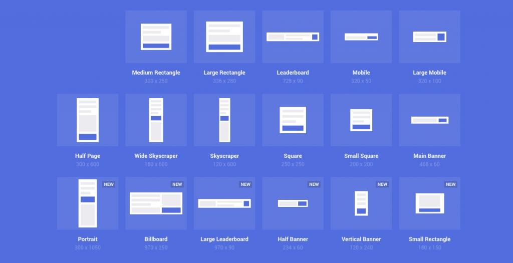 Các kích thước thiết kế banner website
